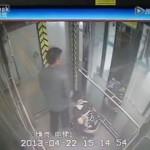地下鉄のエレベーターの中で大便をする中国嫁と見守る夫/China Woman takes a Dump in an Elevator at Subway station