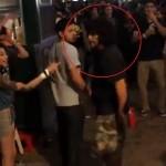 酔っ払ってケンカを売り、逆にK.O.される男/ Annoying Drunk Guy Gets Knocked Out.